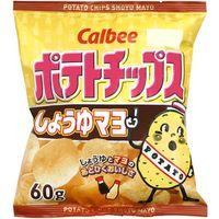 カルビー ポテトチップス しょうゆマヨ 60g×12 5712599 1ケース(12入)(直送品)