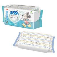 レックディズニー ミッキー&ミニー 水99%おしりふき 1パック 80枚×3個 レック