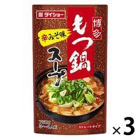 ダイショー ダイショー 博多もつ鍋スープ 辛みそ味 750g 3袋
