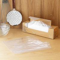 【アウトレット】ポリ袋 食品保存袋 M (マチ無し・冷凍・冷蔵対応)ツルツルタイプ 透明 1箱(160枚入)ロハコ(LOHACO)オリジナル