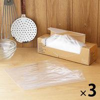 食品保存袋M 透明 160枚入×3箱