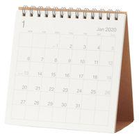 無印良品 バガスペーパーカレンダー・小 卓上約120×120mm・12月~12月 82261127 良品計画