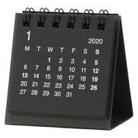 無印良品 デスクトップミニカレンダー 黒・卓上約60×60mm・12月~12月 82261141 良品計画