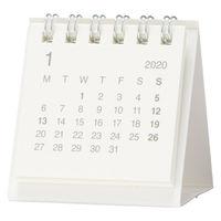 無印良品 バガスペーパーデスクトップミニカレンダー 白・卓上約60×60mm・12月~12月 82261134 良品計画