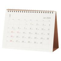 無印良品 バガスペーパー日曜始まり六輝カレンダー・中 卓上約200×145mm・12月~12月 82261189 良品計画