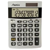 アスカ 消費税電卓S シルバー C1226S(直送品)