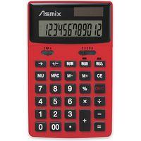 アスカ ビジネスカラー電卓 レッド C1235R(直送品)