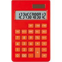 アスカ カラー電卓S レッド C1237R(直送品)