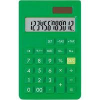 アスカ カラー電卓S グリーン C1237G(直送品)