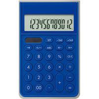 アスカ カバーつき電卓 ブルー C1241B(直送品)