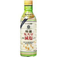 キッコーマン食品 新鮮特選丸大豆減塩しょうゆ 450ml×12 2113418 1ケース(12入)(直送品)
