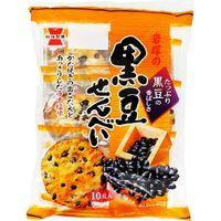 岩塚製菓 黒豆せんべい 10枚×12 5536726 1ケース(12入)(直送品)