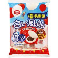 亀田製菓 白い風船チョコクリーム 18枚×12 5512730 1ケース(12入)(直送品)