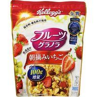 ケロッグ フルーツグラノラ 朝摘みいちご 600g×6 5518581 1ケース(6入) 日本ケロッグ(直送品)