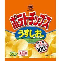 湖池屋 ポテトチップス うすしお味 60g×12 5519486 1ケース(12入)(直送品)