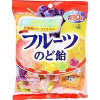 カバヤ フルーツのど飴 180g×10 5628865 1ケース(10入) カバヤ食品(直送品)