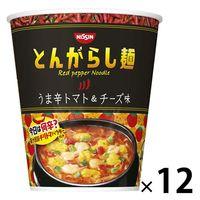 日清食品 日清のとんがらし麺 うま辛トマト&チーズ味 1ケース(12食入)