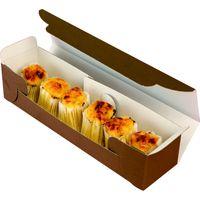 ヤマニパッケージ ジョイフルガトーブラウン 20-299 1ケース(100:50枚全面包装)(直送品)