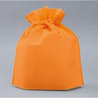 不織布巾着 オレンジ SW2528-25 1セット(100個)(直送品)