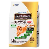 ベストバランス ドッグフード カリカリ仕立て 成犬 ミニチュアダックスフンド用 1.8kg(450g×4袋入)国産 1袋 ユニ・チャーム