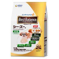 【リニューアルしました】ベストバランス 犬用 カリカリ仕立て 成犬 シーズー用 1.8kg(450g×4袋入)国産 1袋 ユニ・チャーム