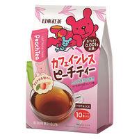 日東紅茶 カフェインレスピーチティー 1袋(10本入)