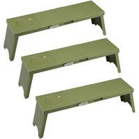 アウトドアテーブル PICNO 3台×2 グリーン I-569-3 6台 伊勢藤(直送品)