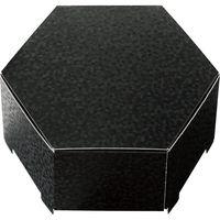 ヘッズ きらび六角BOX-M/ブラック KRB-HGM 1セット(30枚:10枚×3パック)(直送品)