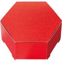 ヘッズ きらび六角BOX-M/レッド KRR-HGM 1セット(30枚:10枚×3パック)(直送品)