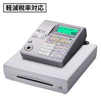 【軽減税率対応】カシオ計算機 電子レジスター ライトシルバー TE-400-SRL 1台(わけあり品)