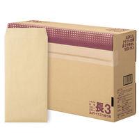 アスクル オリジナルクラフト封筒 長3〒枠なし 3箱(3000枚入:1箱1000枚入×3)(わけあり品)
