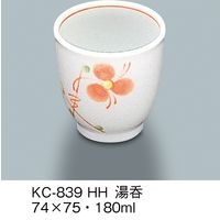 三信化工 湯呑 強化磁器 初花 KC-839-HH 1セット(5個入)(直送品)