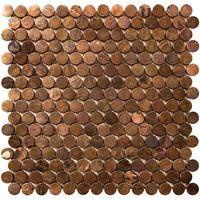 みはし 銅張モザイクタイル 陶器製/表面銅張 300×300mm NTL012(直送品)