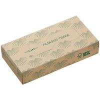 ティッシュペーパー 150組(24箱) オリジナルフィルムレスティッシュ(FSC認証紙)1ケース(24箱入) アスクル