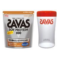 明治 プロテイン シェイカー付き ザバス(SAVAS)ソイプロテイン100 ミルクティー50食分セット