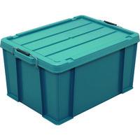 アイリスオーヤマ(IRIS OHYAMA) IRIS 252006 バックルコンテナ BL-65 ブルーグリーン BL-65-BG 137-2474(直送品)