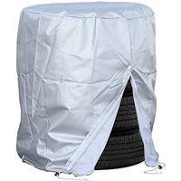 バル タイヤ保護カバーS 難燃加工タイプ 軽・小型乗用車 タイヤ4本用 ファスナー・ひもストッパー付き 1567(直送品)