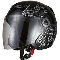 BRC グラフィックジェットヘルメット ブラック A225M 721102(直送品)