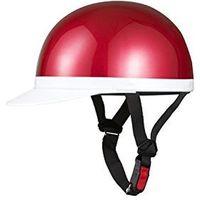 バイクパーツセンター ヘルメット 半キャップ 白ツバ XL キャンディレッド KC100A XL 710914(直送品)
