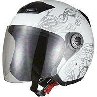 BRC グラフィックジェットヘルメット ホワイトA225M 721002(直送品)