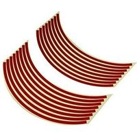バイクパーツセンター リムステッカー 17インチ用 レッド 赤 901821(直送品)の画像