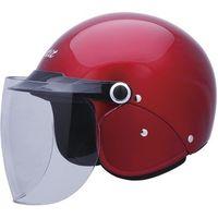 ユニカー工業 セミジェットヘルメット Ver.F (キャンディレッド)[58〜60cm] BH-25R(直送品)