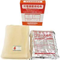 アライ 災害備蓄用毛布 難燃フリース コンパクトタイプ BAP-3000B 1セット(10枚入)(直送品)