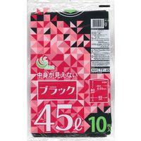 TF 黒ポリ袋 45L10P TF-45 1セット(500枚:1袋10枚入×50袋) 日本技研(取寄品)