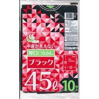 TF 黒ポリ袋 45L10P 厚口 TF-46 1セット(500枚:1袋10枚入×50袋) 日本技研(取寄品)