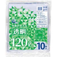 透明ポリ袋 120L10P TN-35 1セット(100枚:1袋10枚入×10袋) 日本技研(取寄品)