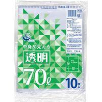 透明ポリ袋 70L10P TN-4 1セット(300枚:1袋10枚入×30袋) 日本技研(取寄品)