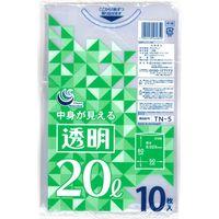 透明ポリ袋 20L10P TN-5 1セット(300枚:1袋10枚入×30袋) 日本技研(取寄品)