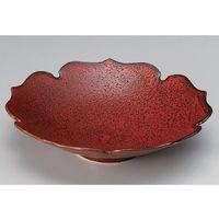 アースモス 美濃焼 盛鉢 中 紅柚子天目輪花7.0皿 utw-03505205 2枚入(直送品)