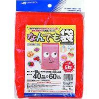 日本マタイ なんでも袋 40×60cm(10kg)赤 5枚組×10個セット HARVEST-BAG-4060R(直送品)